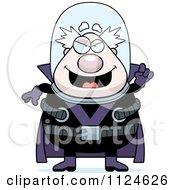 Cartoon Of A Chubby Male Villain With An Idea Royalty Free Vector Clipart by Cory Thoman