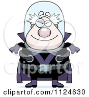 Cartoon Of An Evil Chubby Male Villain Royalty Free Vector Clipart