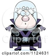Cartoon Of A Surprised Chubby Male Villain Royalty Free Vector Clipart by Cory Thoman