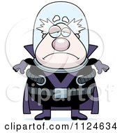 Cartoon Of A Depressed Chubby Male Villain Royalty Free Vector Clipart by Cory Thoman