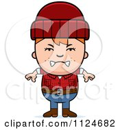 Cartoon Of An Angry Red Haired Lumberjack Boy Royalty Free Vector Clipart by Cory Thoman