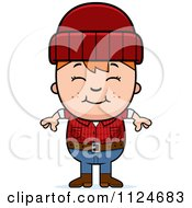 Cartoon Of A Happy Red Haired Lumberjack Boy Royalty Free Vector Clipart by Cory Thoman
