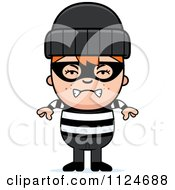 Cartoon Of An Angry Red Haired Robber Boy Royalty Free Vector Clipart by Cory Thoman