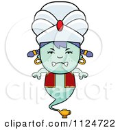 Cartoon Of An Angry Genie Girl Royalty Free Vector Clipart by Cory Thoman