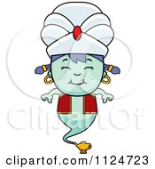 Cartoon Of A Happy Genie Girl Royalty Free Vector Clipart by Cory Thoman