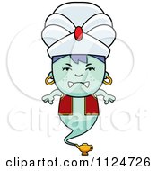 Cartoon Of An Angry Genie Boy Royalty Free Vector Clipart by Cory Thoman