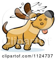 Cartoon Of A Stupid Or Drunk Dog Royalty Free Vector Clipart