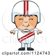 Cartoon Of A Happy Asian Daredevil Stunt Boy Royalty Free Vector Clipart