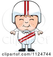 Cartoon Of A Happy Red Haired Daredevil Stunt Boy Royalty Free Vector Clipart