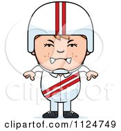 Cartoon Of An Angry Red Haired Daredevil Stunt Boy Royalty Free Vector Clipart