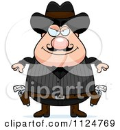 Cartoon Of A Grinning Chubby Male Wild West Cowboy Royalty Free Vector Clipart by Cory Thoman