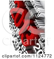 Clipart Of A 3d Red And White New Year 2013 Word Collage Royalty Free CGI Illustration by MacX