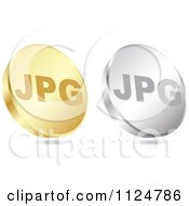 Clipart Of 3d Gold And Silver JPG Format Coin Icons Royalty Free Vector Illustration by Andrei Marincas