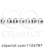 Clipart Of 3d FASHION Cubes Royalty Free Vector Illustration by Andrei Marincas