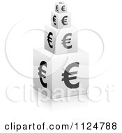 Clipart Of 3d Stacked Euro Symbol Cubes Royalty Free Vector Illustration by Andrei Marincas