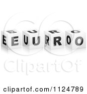 Clipart Of 3d EURO Cubes Royalty Free Vector Illustration by Andrei Marincas