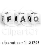 Clipart Of 3d FAQ Cubes Royalty Free Vector Illustration