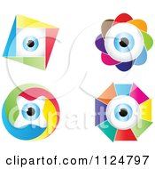 Clipart Of Colorful Eyeball Designs Royalty Free Vector Illustration by Andrei Marincas