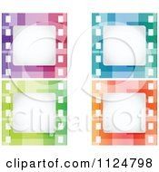 Clipart Of Colorful Film Strip Frames Royalty Free Vector Illustration