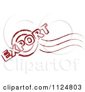 Clipart Of A Red Export Postmark Stamp Royalty Free Vector Illustration by Andrei Marincas