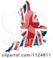 Cartoon Of A Union Jack Flag England Map Royalty Free Vector Clipart