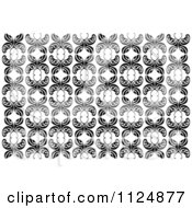 Clipart Of A Black And White Butterfly Seamless Background Pattern 5 Royalty Free Vector Illustration