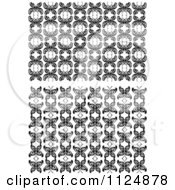 Clipart Of Black And White Butterfly Seamless Background Patterns 2 Royalty Free Vector Illustration