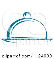 Teal Food Cloche And Platter