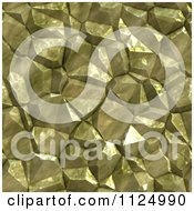 Clipart Of A Seamless Gold Crystal Texture Background Pattern Royalty Free CGI Illustration