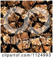 Clipart Of A Seamless Copper Crystal Texture Background Pattern Royalty Free CGI Illustration