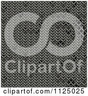 Clipart Of A Seamless Chainmail Texture Background Pattern Royalty Free CGI Illustration