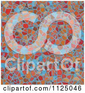 Clipart Of A Seamless Mosaic Texture Background Pattern Royalty Free CGI Illustration