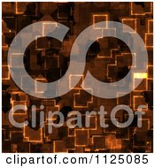 Clipart Of A Seamless Orange Cyber Glow Crystal Texture Background Pattern Royalty Free CGI Illustration