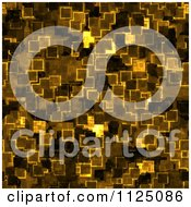 Clipart Of A Seamless Yellow Cyber Glow Crystal Texture Background Pattern Royalty Free CGI Illustration