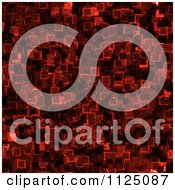 Clipart Of A Seamless Red Cyber Glow Crystal Texture Background Pattern Royalty Free CGI Illustration