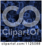 Clipart Of A Seamless Blue Cyber Glow Crystal Texture Background Pattern Royalty Free CGI Illustration