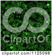 Clipart Of A Seamless Green Cyber Glow Crystal Texture Background Pattern Royalty Free CGI Illustration