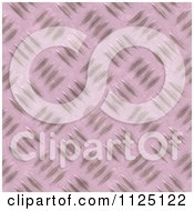 Clipart Of A Seamless Pink Metal Diamond Plate Texture Background Pattern Royalty Free CGI Illustration