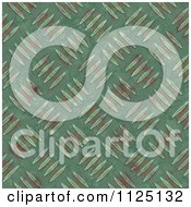 Clipart Of A Seamless Green Metal Diamond Plate Texture Background Pattern Royalty Free CGI Illustration
