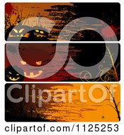Clipart Of Grungy Halloween Website Banners Royalty Free Vector Illustration by dero