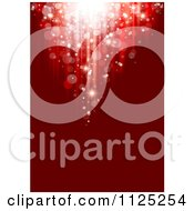 Clipart Of A Red Christmas Bokeh Light Background With Copyspace Royalty Free Vector Illustration