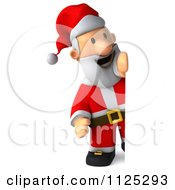 Clipart Of A 3d Christmas Santa Holding A Sign 2 Royalty Free CGI Illustration
