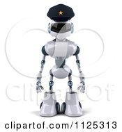 Clipart Of A 3d Techno Robot Police Officer Facing Front Royalty Free CGI Illustration