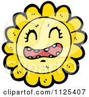 Cartoon Of A Sunflower Character 1 Royalty Free Vector Clipart