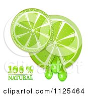 Clipart Of Natural Lime Slices And Text On White 1 Royalty Free Vector Illustration