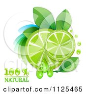 Clipart Of Natural Lime Slices And Text On White 2 Royalty Free Vector Illustration