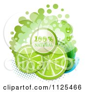 Clipart Of Natural Lime Slices And Text On White 3 Royalty Free Vector Illustration