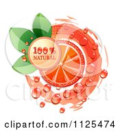 Clipart Of Natural Blood Orange Slices And Text On White 4 Royalty Free Vector Illustration by merlinul