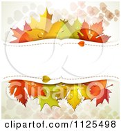 Clipart Of A Background With Autumn Maple Leaves Hearts And Copyspace Royalty Free Vector Illustration by merlinul
