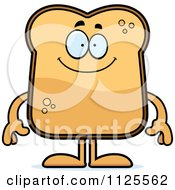 Cartoon Of A Happy Toast Mascot Royalty Free Vector Clipart
